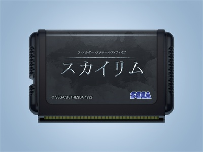 japanese megadrive cart sega genesis mega drive 3d