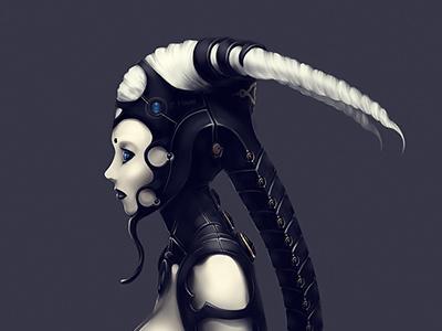 u7dcm6mp illustration cyborg girl boobs
