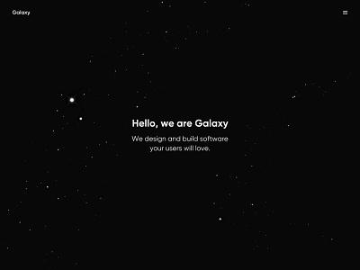 Galaxy creative studio branding minimal design user experience app interface ux ui
