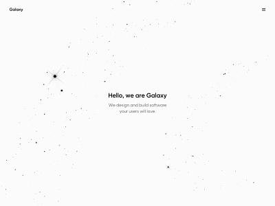 Galaxy branding creative direction creative web design minimal user experience interface ux ui