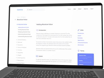 MathVine online education education product mathematics math minimal design user experience interface ux ui
