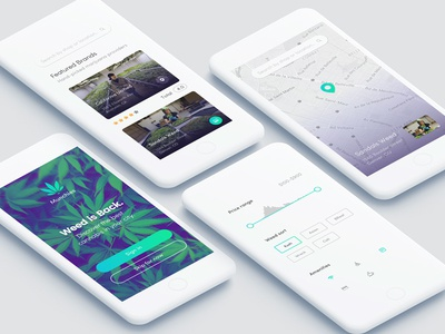 Munchies smoke weed product design user interface user experience ui ux map minimal iphone app ios
