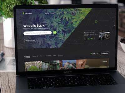 Munchies web design ui user experience user interface ux weed web desktop website