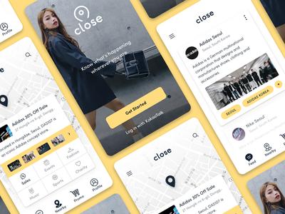 Close ux ui shopping seoul mobile map location korea iphone ios fashion app
