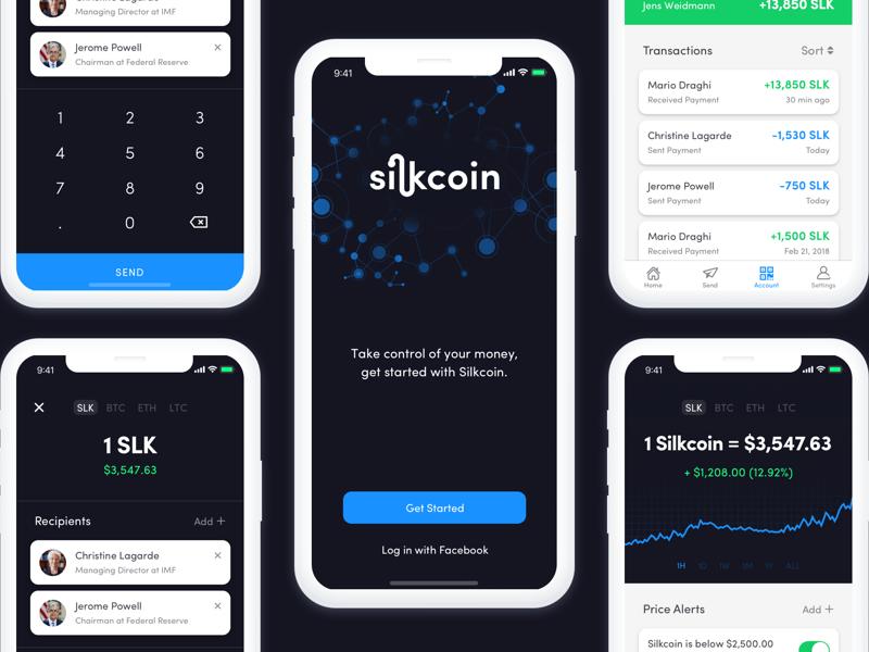 Crypto Wallet ui ux app ios bitcoin blockchain cryptocurrency economics economy money finance