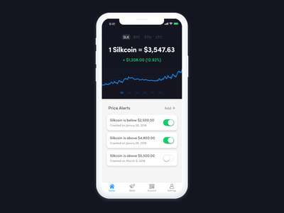 Crypto Wallet ux ui money ios finance economy economics cryptocurrency blockchain bitcoin app