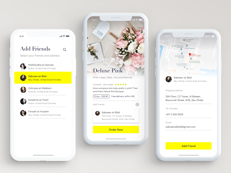 Gifty app ux user experience ios ui social shopping mobile iphone x iphonex gift ecommerce