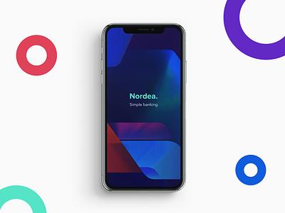 Nordea redesign nordea money mobile minimal iphone x iphone ios finance colorful banking bank