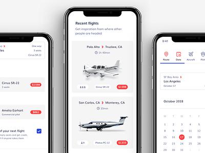 Blackbird booking minimal clean colorful bold mobile app plane flight iphone ios user interface user experience ux ui ui ux