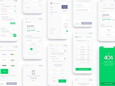 Aspire minimal interface iphonexs ui ux iphone mobile ios financial banking b2b finance loan money