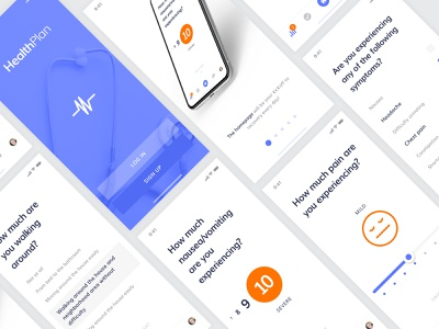 HealthPlan lifestyle product design user experience interface ui ux minimal clean iphone apple ios app healthtech surgery hospital medical monitor tracking healthy healthcare