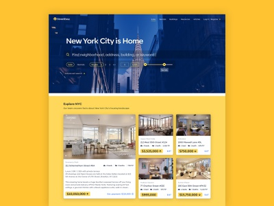 StreetEasy Redesign web design uxui sales rentals apartment house housing estate real estate property design web user interface clean product design minimal user experience interface ux ui