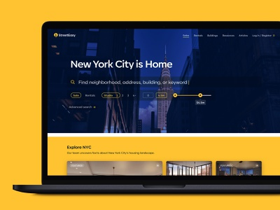 StreetEasy Redesign web design uxui sales rentals apartment house housing estate real estate property design web user interface clean minimal product design user experience interface ux ui