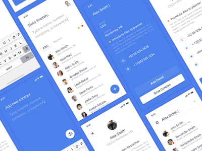Google Contacts minimal branding list creative direction social network google social people contact contacts design user interface mobile product design user experience ios app interface ux ui