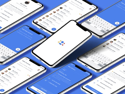 Google Contacts brand design creative direction branding list people social network social contacts google product design user interface mobile iphone minimal user experience app interface ios ux ui