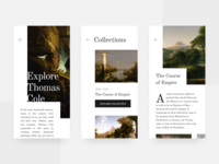 Gallery Mobile Website Concept