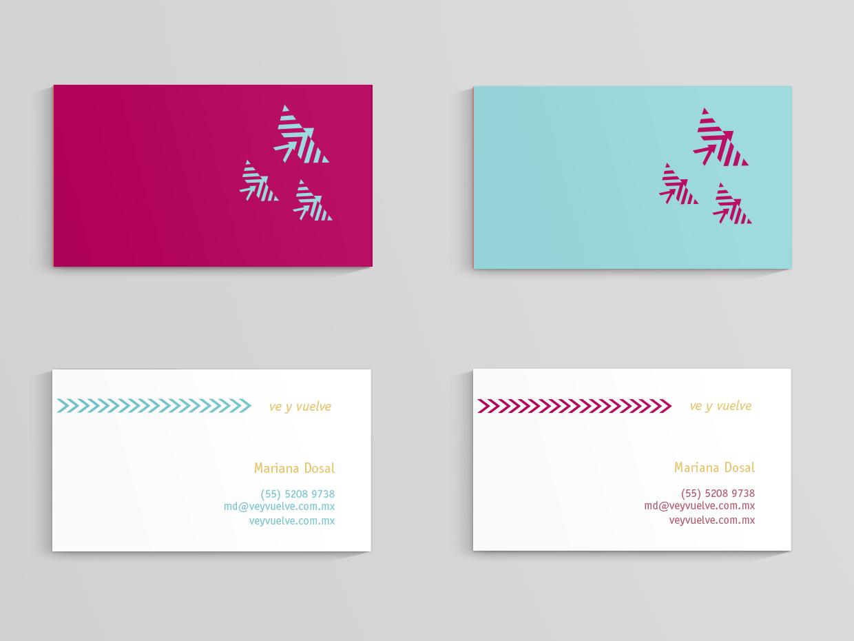 Ve y Vuelve travel stationery branding logo graphic design