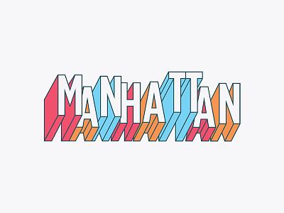 Manhattan Geofilter snapchat block typography ny new york manhattan geofilter