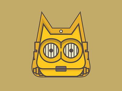 Star Wars Cat-3PO gold yellow desert illustration android eyes emoji cat c3po star wars