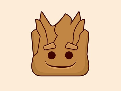 I am Groot smile face cute guardians of the galaxy emoji groot baby