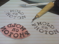 Carving Custom Stamps For Album Cover
