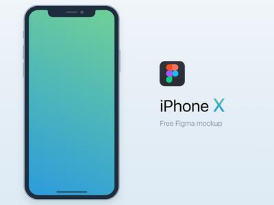 Freebie iPhone X mockup for Figma