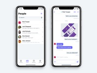 Chat App screens