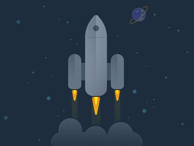 Rocket Illustration figma space concept vector design illustration rocket