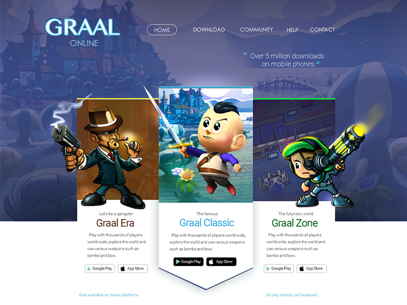 GraalOnline redesign idea by Henrique Kieckbusch | Dribbble
