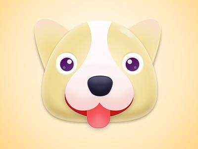 狗 硬质感 插图 图标 ui 设计