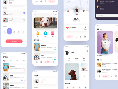pet app cat dog uidesign 设计