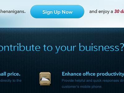 A WIP Web App blue cloud web design
