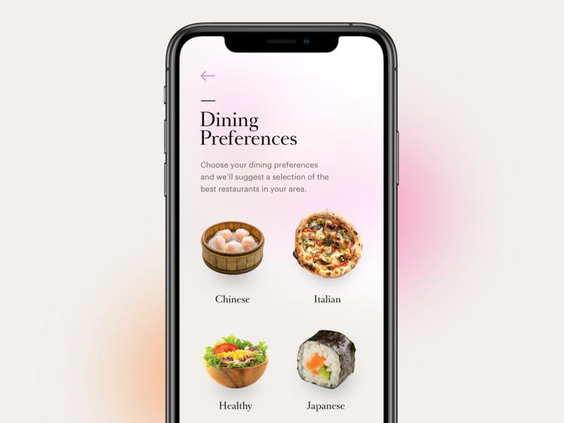 Dining Preferences UI