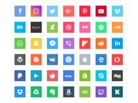 Free Square Social Icons