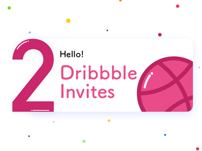 Dribbble Invites twoinvites illustration invites dribbble