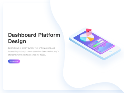 Isometric Mobile Dashboard data gradient analytics virtual dashboard mobile isometric