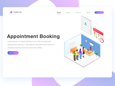 Appointment Booking date time people hospital ui ux doctor isometric booking appointment