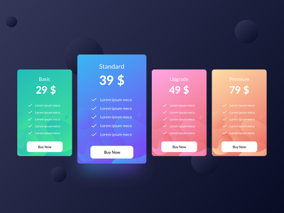 Pricing Design sketch gradient ux ui pricing vector design