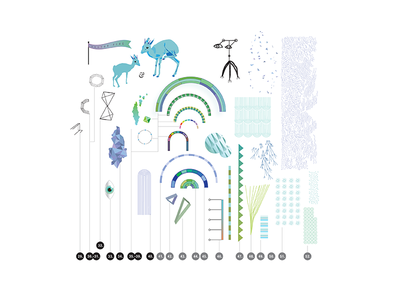 Visual Toolbox & Imagination imagination brushes pattern vector illustration