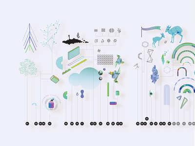 Visual Tools & Imagination building blocks collection of objects illustration icons metaphors whimsical environments pattern diagram