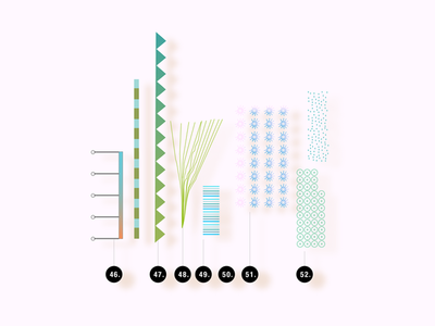 Brushes & Pattern: Visual Tools & Imagination whimsical vector toolbox brushes patten illustration