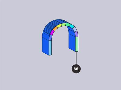 3-D Vector Rainbow carrie dyer whimsical vector toolbox texture pattern illustration geometric rainbow