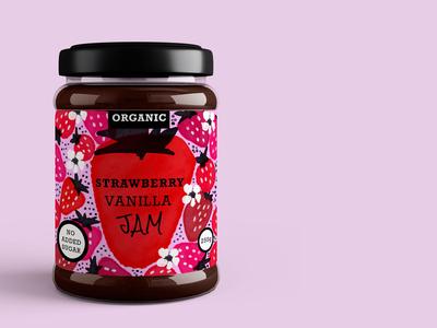 Organic Jam Packaging and Label Design