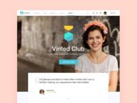 Vinted Club landing
