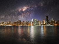 Milkyway over NYC