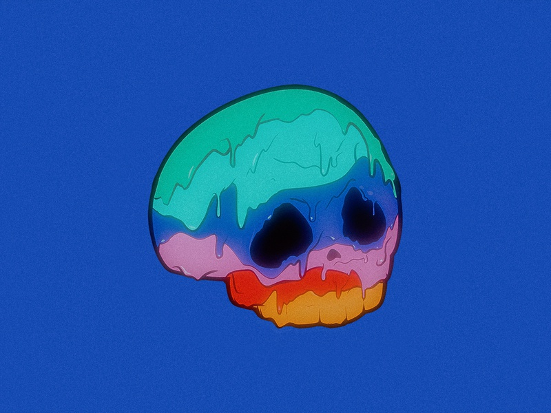 Chroma Drips Philter graphic illustration trippy drippy goopy drips chroma skull colorful