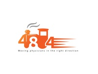 logo of 484 with 4-8-4 Train