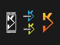 Logo work with letter k n v.