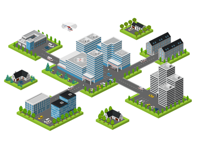 healthcare healthcare 2.5d vector template illustration isometric