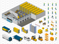 FREE Isometric Warehouse Icons